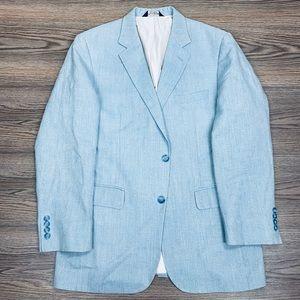 Jos A Bank Baby Blue Sport Coat 40R